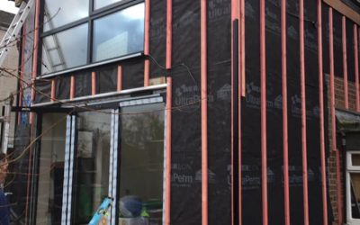 Cladding a new extension…