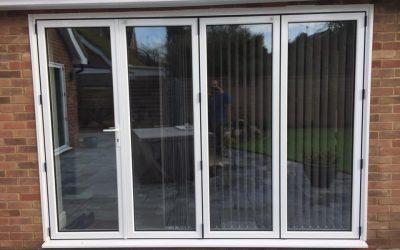 New composite front door & aluminium bi-fold door set